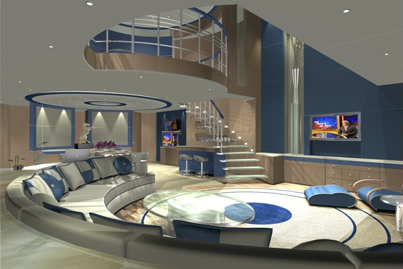 Bespoke superyacht hotel concept designs from rainsford for Duplex home interior photos